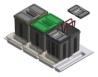 Odpadkový koš čtyř.zásuvkový 900,2x16a2x7,5l